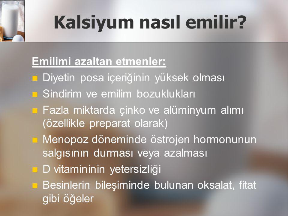 Kalsiyum nasıl emilir Emilimi azaltan etmenler: