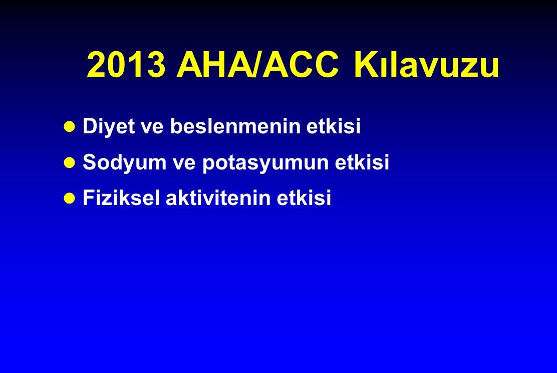 2013 AHA/ACC Kılavuzu Diyet ve beslenmenin etkisi
