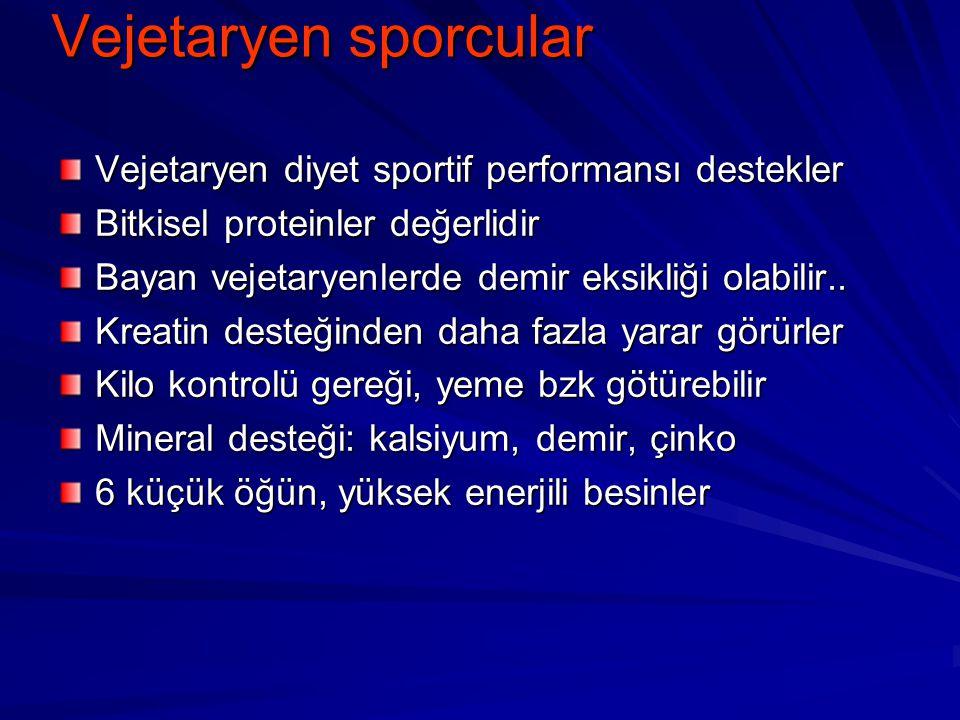 Vejetaryen sporcular Vejetaryen diyet sportif performansı destekler