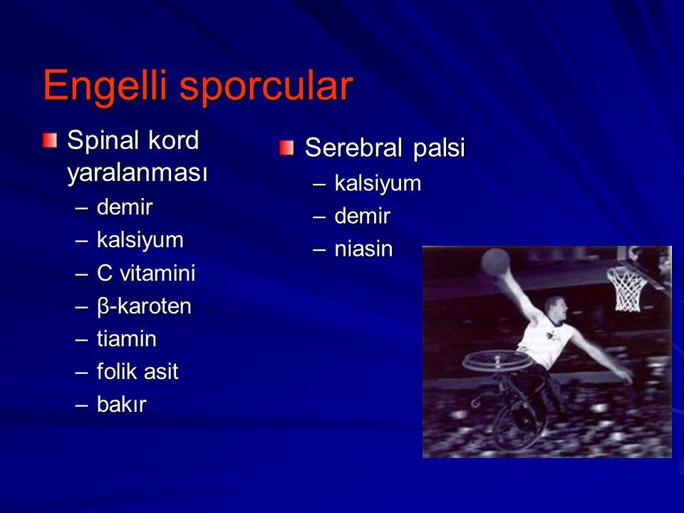 Engelli sporcular Spinal kord yaralanması Serebral palsi kalsiyum