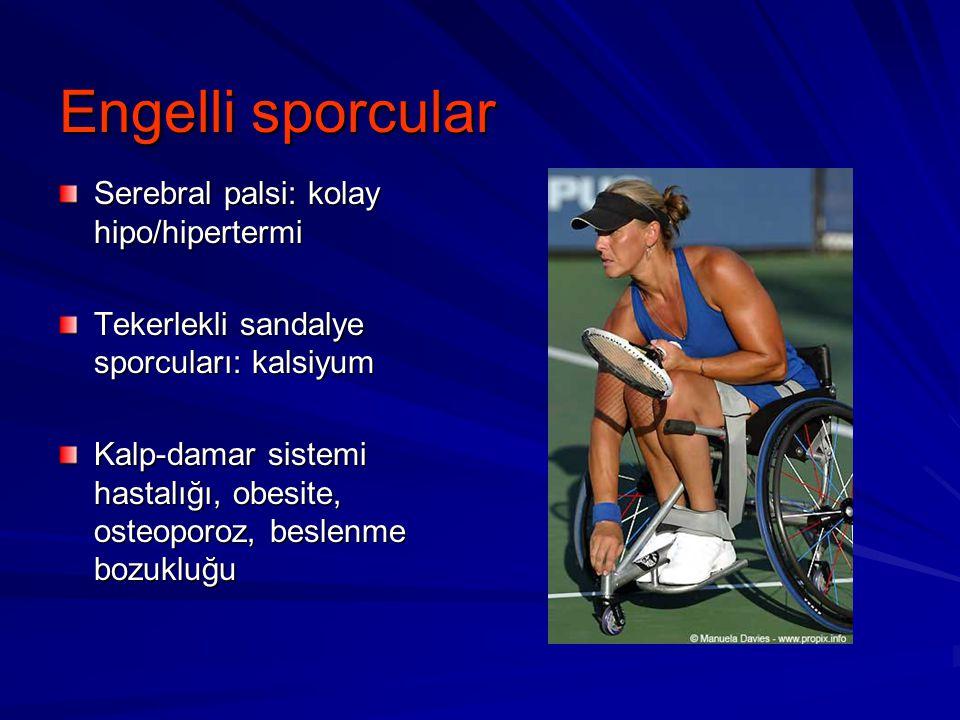 Engelli sporcular Serebral palsi: kolay hipo/hipertermi