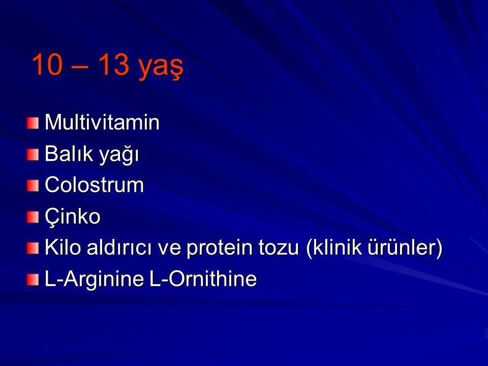 10 – 13 yaş Multivitamin Balık yağı Colostrum Çinko