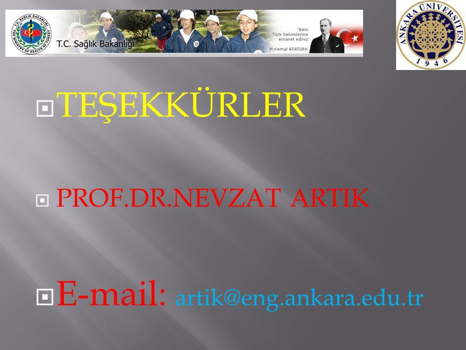 E-mail: artik@eng.ankara.edu.tr