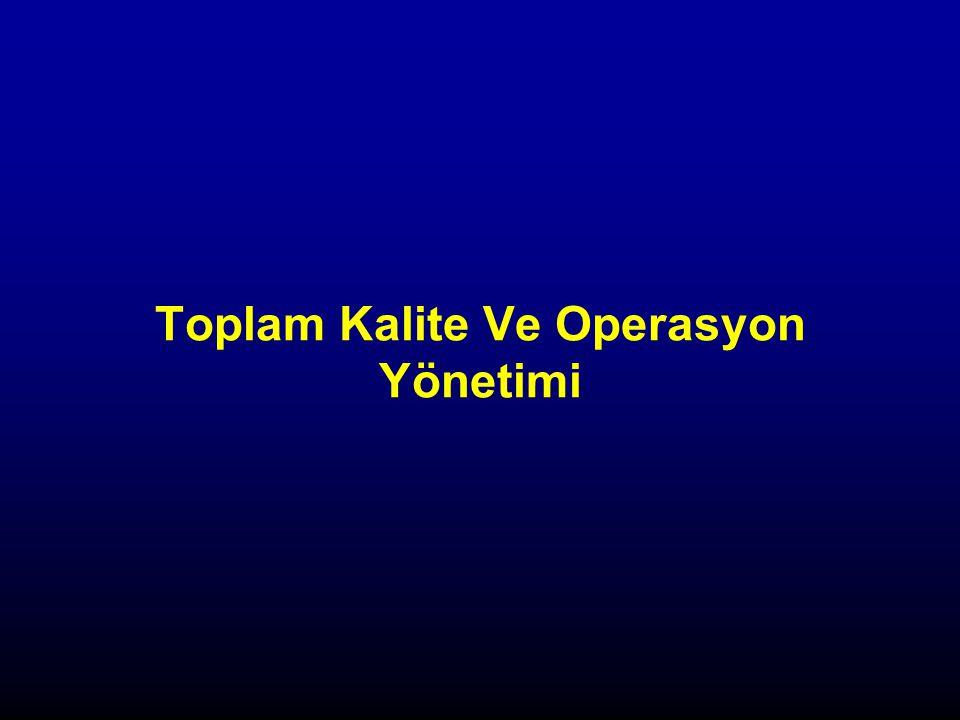Toplam Kalite Ve Operasyon Yönetimi