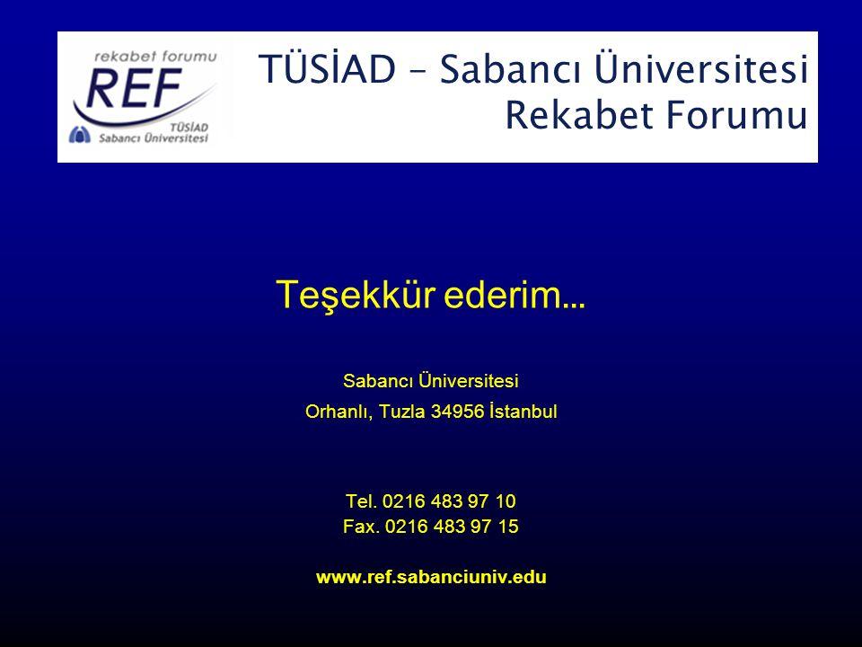 TÜSİAD-Sabancı Üniversitesi Rekabet Forumu
