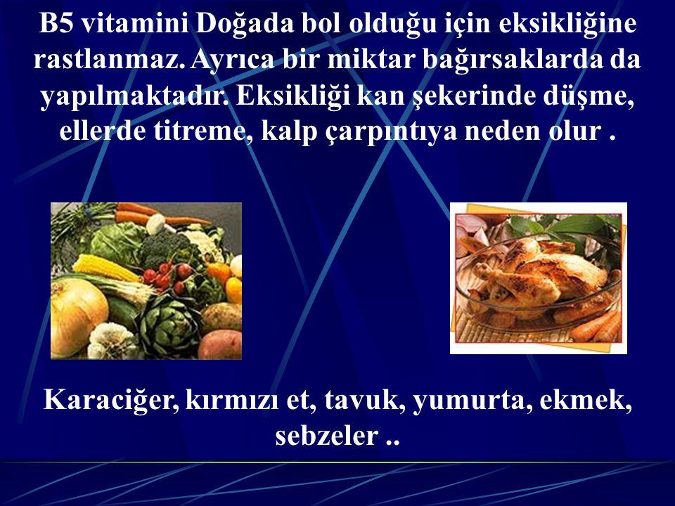 Karaciğer, kırmızı et, tavuk, yumurta, ekmek, sebzeler ..