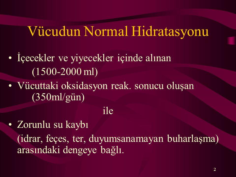 Vücudun Normal Hidratasyonu