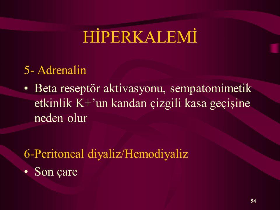 HİPERKALEMİ 5- Adrenalin