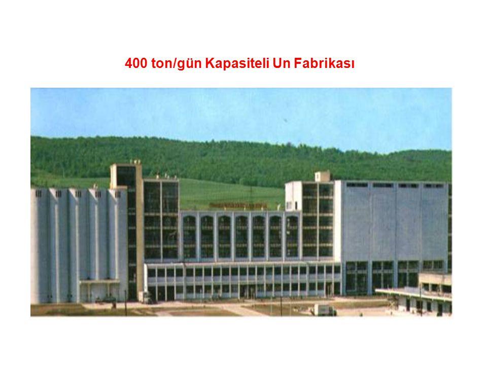 400 ton/gün Kapasiteli Un Fabrikası