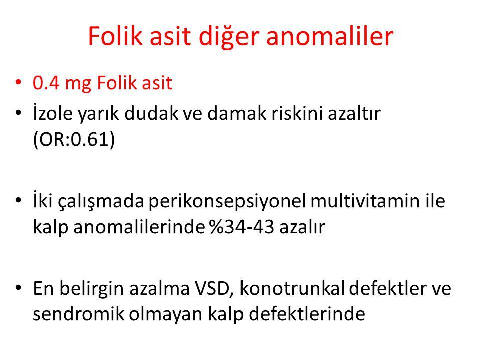 Folik asit diğer anomaliler