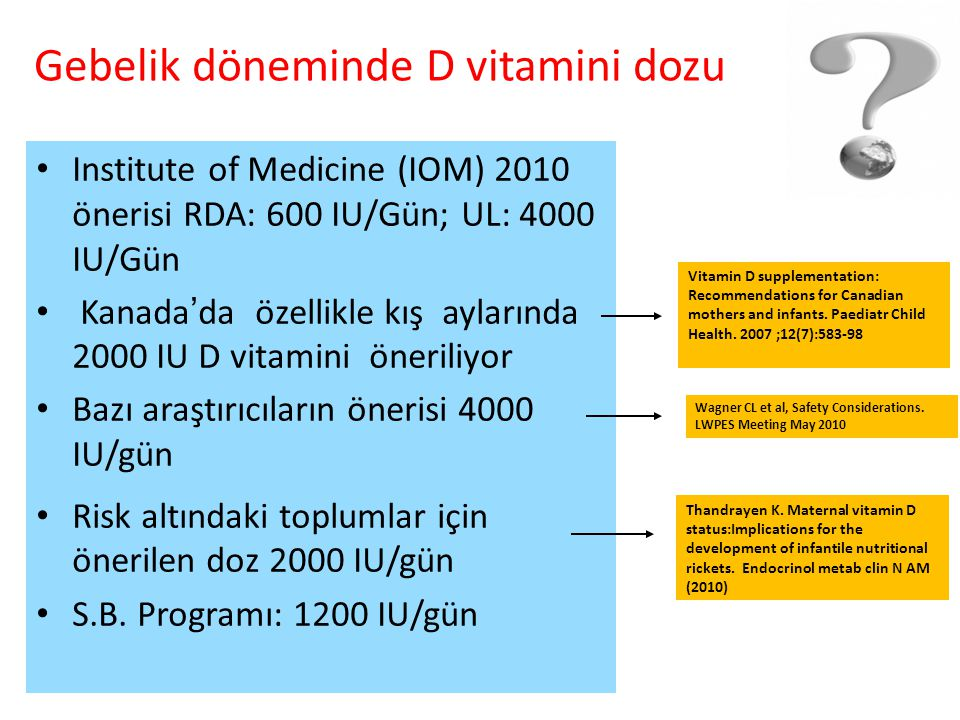 Gebelik döneminde D vitamini dozu