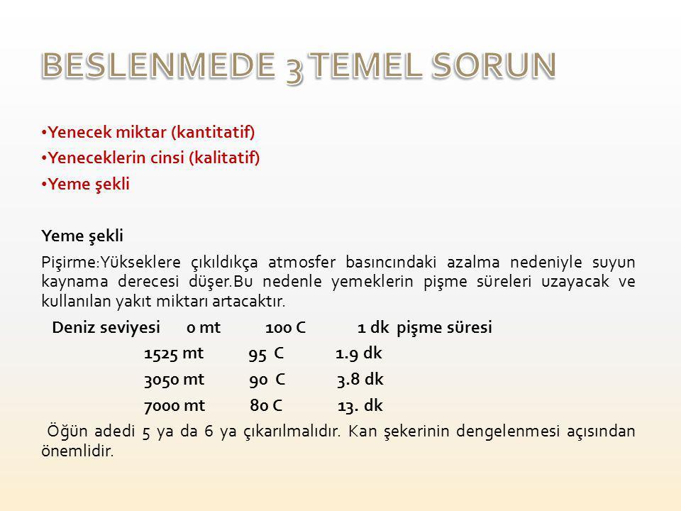 BESLENMEDE 3 TEMEL SORUN