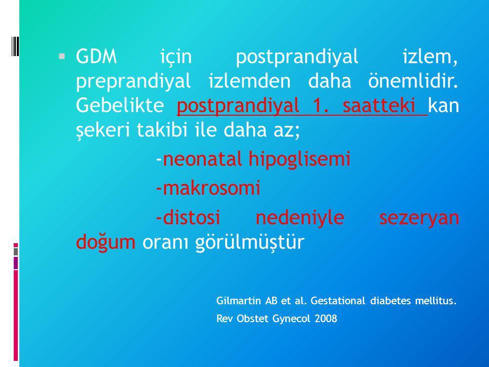 -neonatal hipoglisemi -makrosomi
