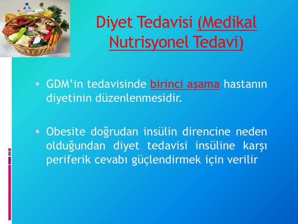 Diyet Tedavisi (Medikal Nutrisyonel Tedavi)