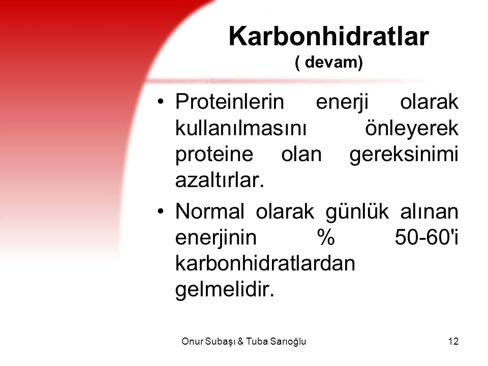 Karbonhidratlar ( devam)