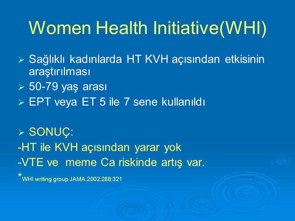 Women Health Initiative(WHI)