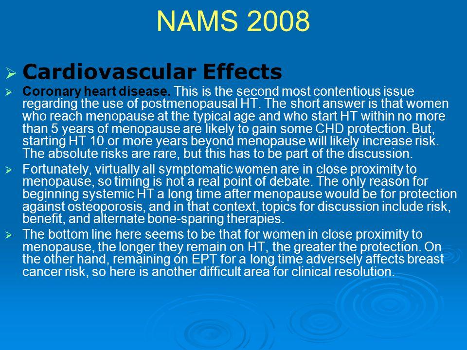 NAMS 2008 Cardiovascular Effects