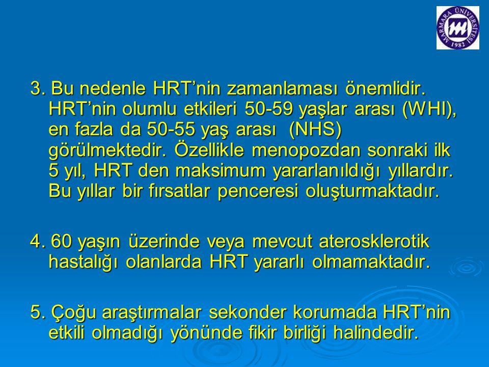 3. Bu nedenle HRT'nin zamanlaması önemlidir