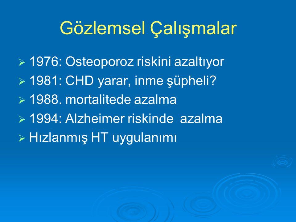 Gözlemsel Çalışmalar 1976: Osteoporoz riskini azaltıyor