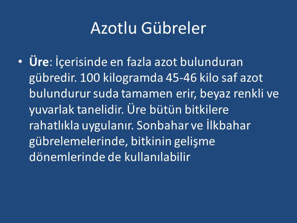 Azotlu Gübreler