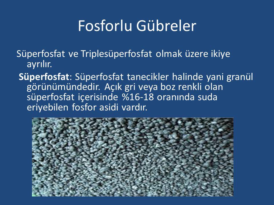 Fosforlu Gübreler