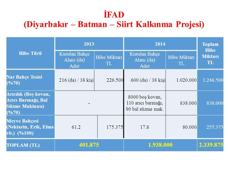 İFAD (Diyarbakır – Batman – Siirt Kalkınma Projesi)