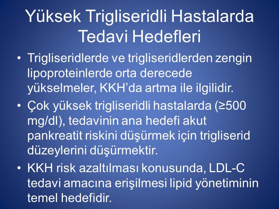 Yüksek Trigliseridli Hastalarda Tedavi Hedefleri