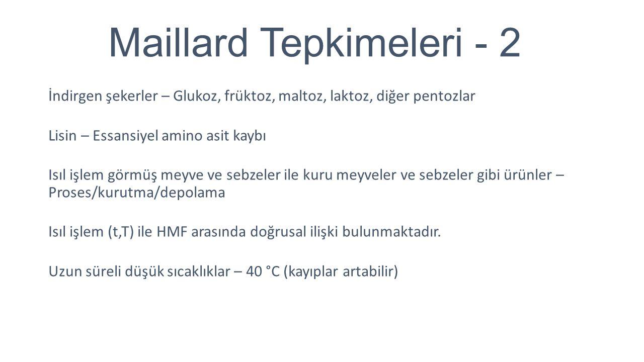 Maillard Tepkimeleri - 2