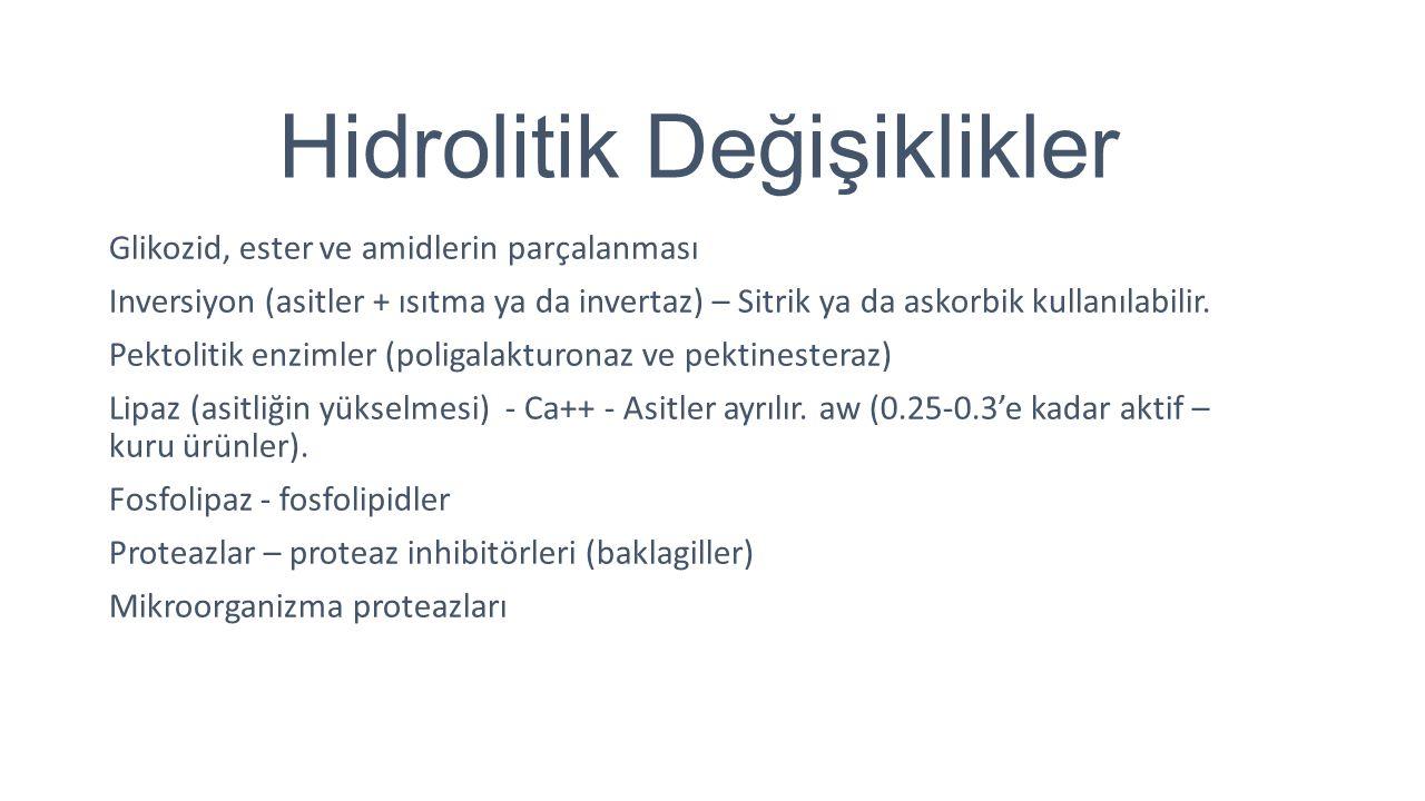 Hidrolitik Değişiklikler