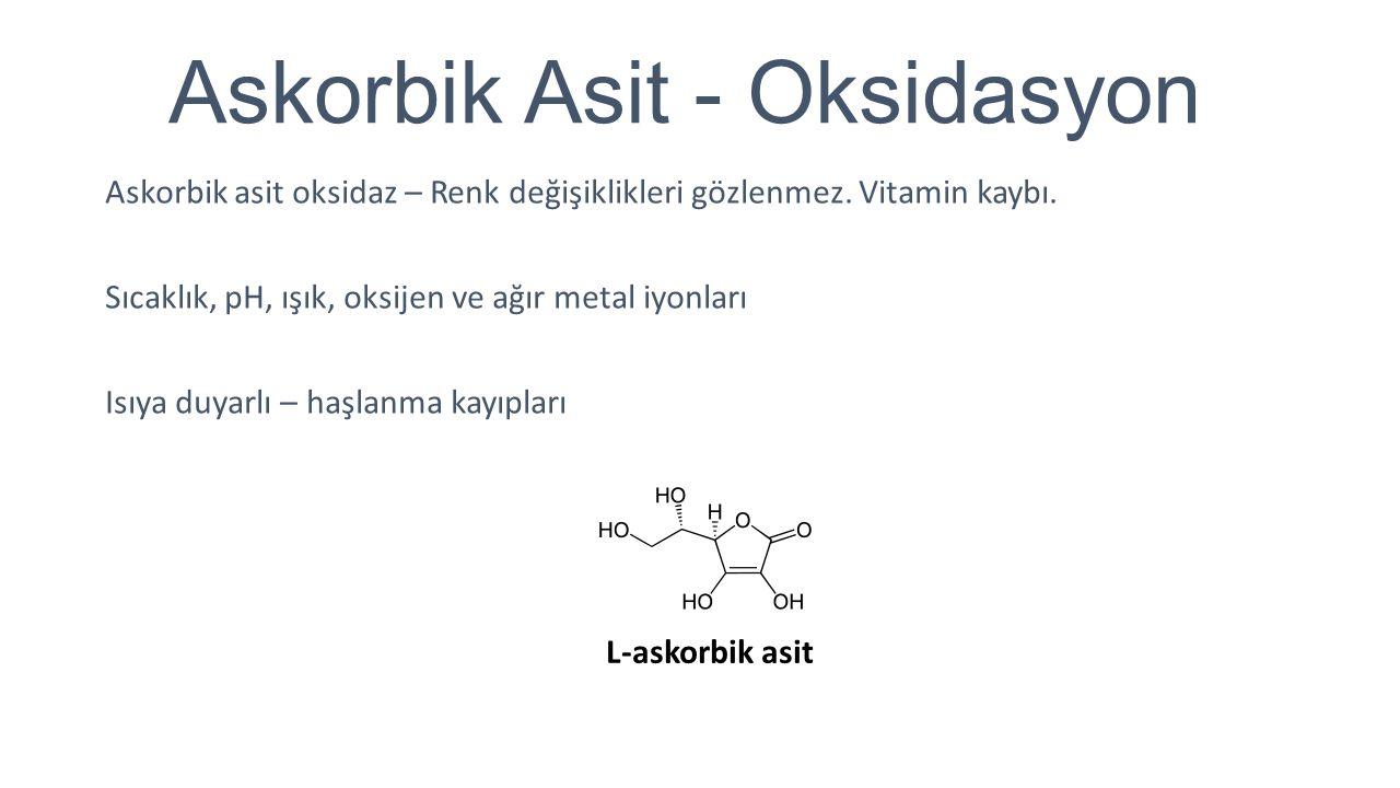 Askorbik Asit - Oksidasyon