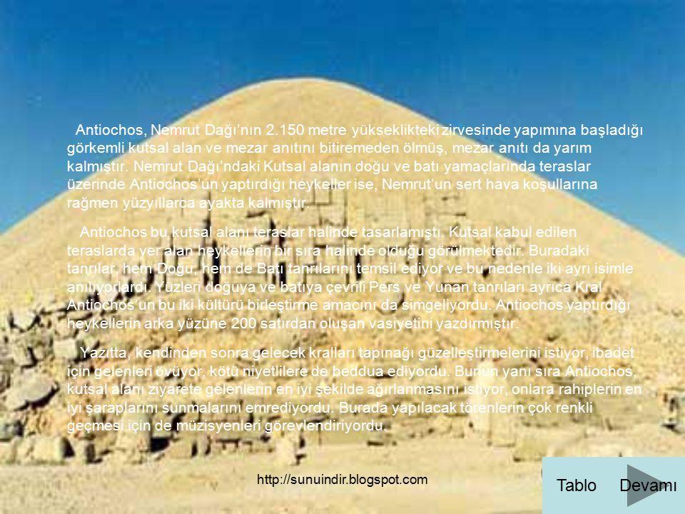 Antiochos, Nemrut Dağı'nın 2