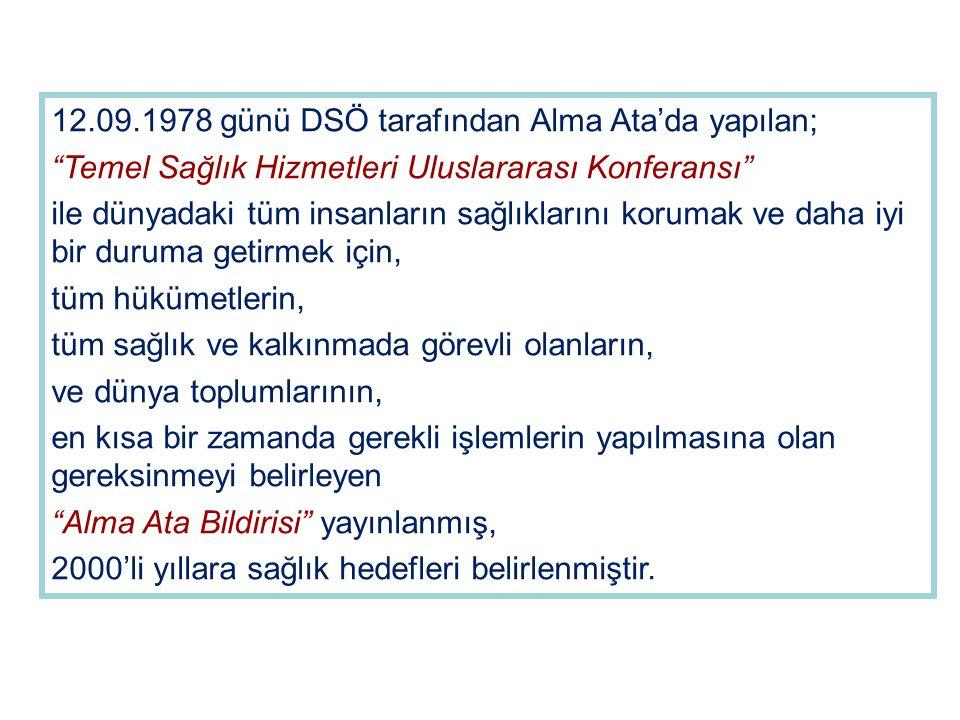 12.09.1978 günü DSÖ tarafından Alma Ata'da yapılan;