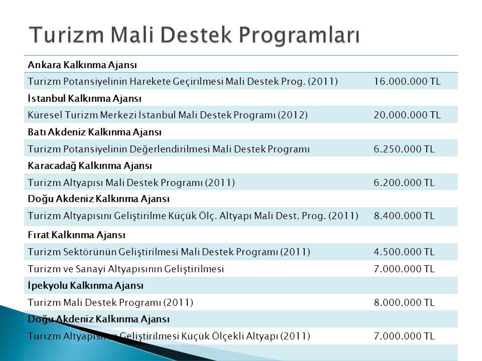 Turizm Mali Destek Programları