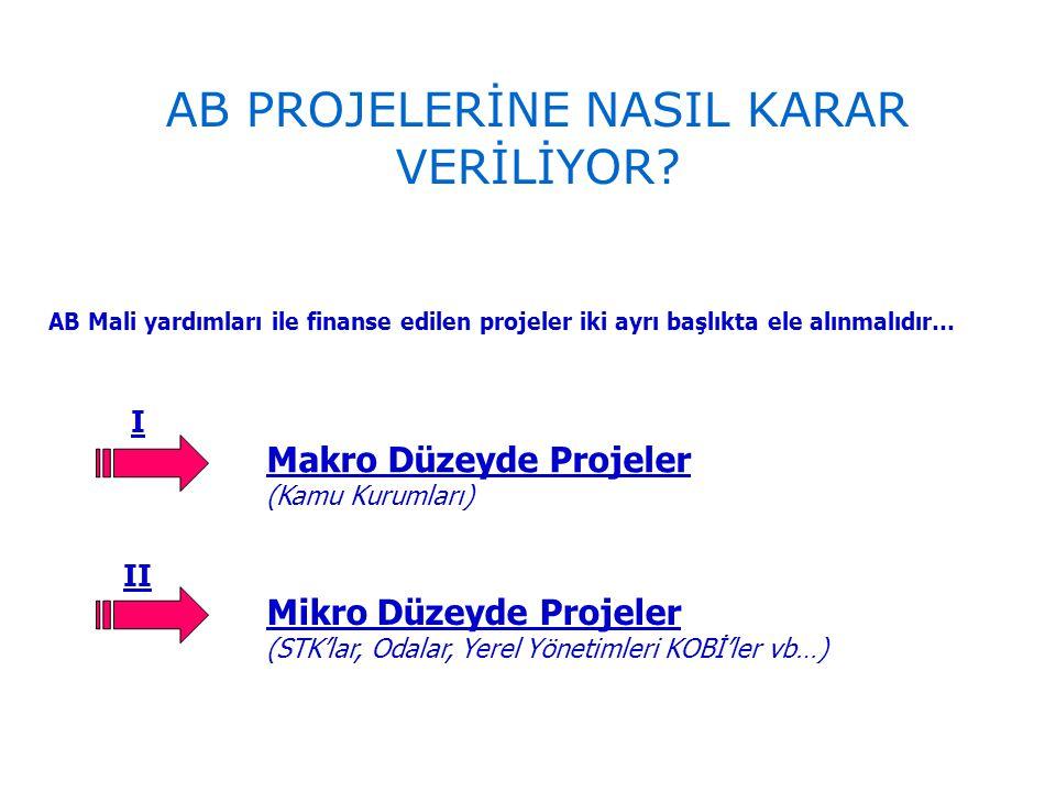AB PROJELERİNE NASIL KARAR VERİLİYOR