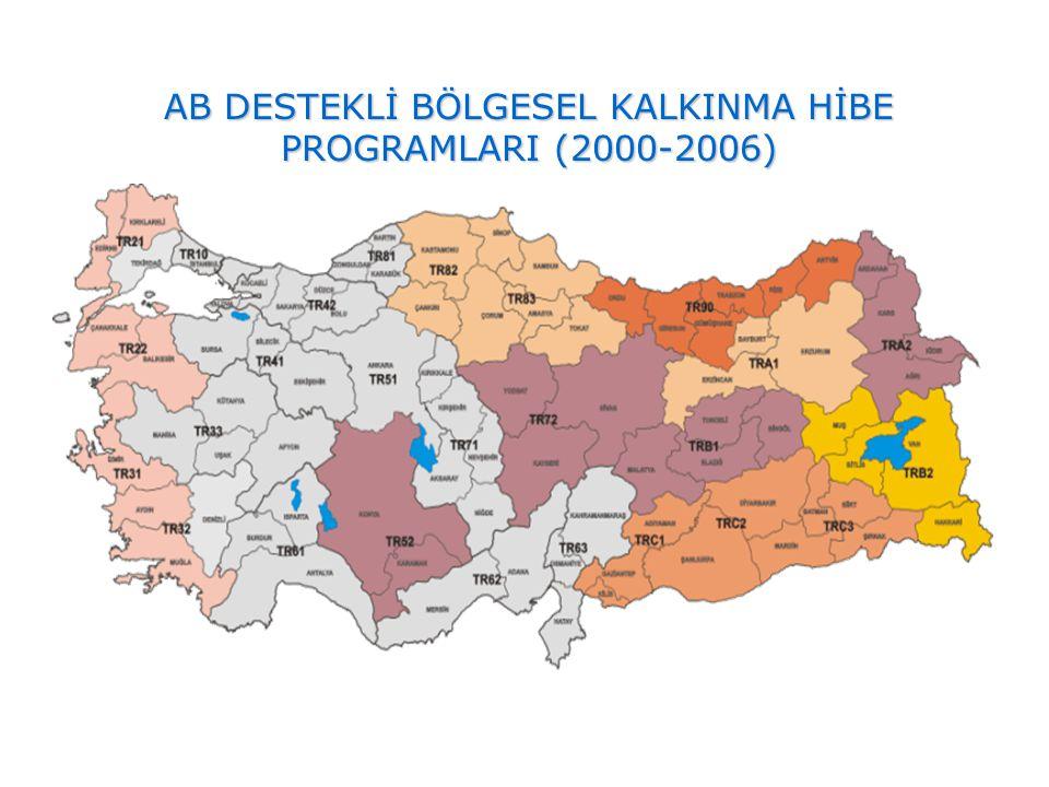 AB DESTEKLİ BÖLGESEL KALKINMA HİBE PROGRAMLARI (2000-2006)