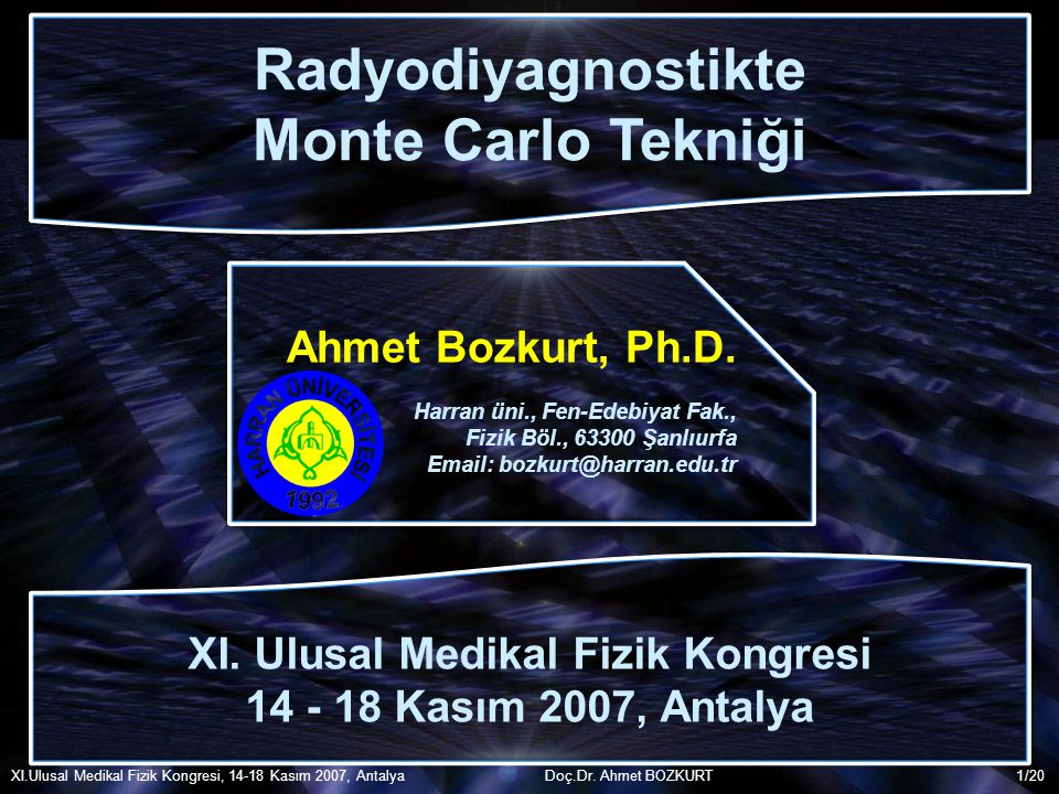 XI. Ulusal Medikal Fizik Kongresi