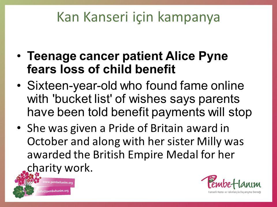 Kan Kanseri için kampanya