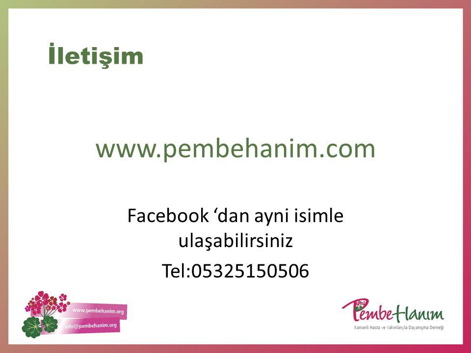 Facebook 'dan ayni isimle ulaşabilirsiniz Tel:05325150506