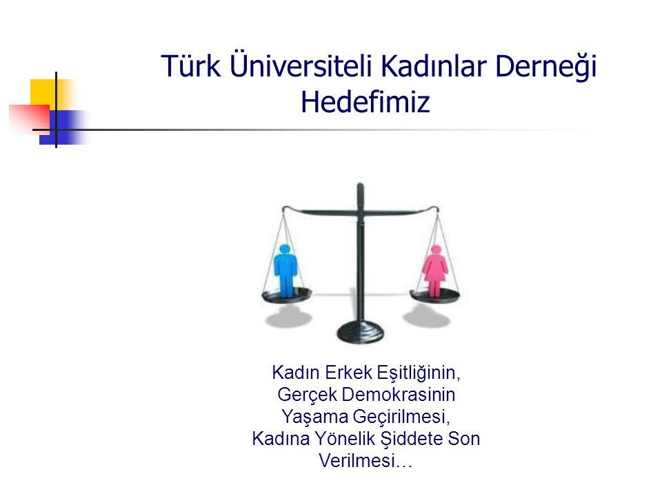 Türk Üniversiteli Kadınlar Derneği Hedefimiz