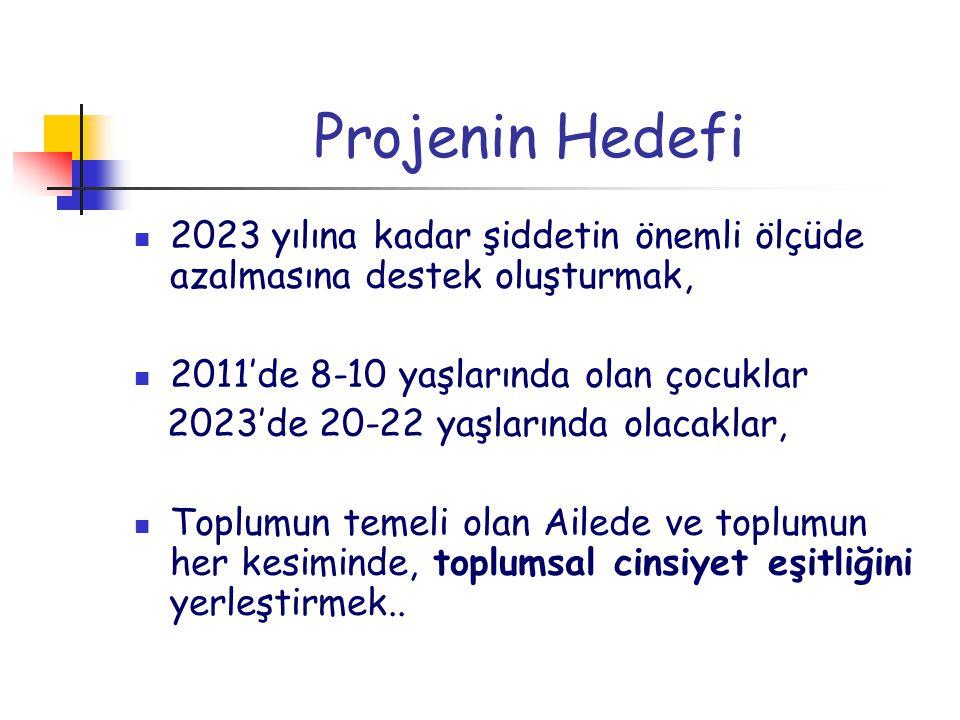 Projenin Hedefi 2023 yılına kadar şiddetin önemli ölçüde azalmasına destek oluşturmak, 2011'de 8-10 yaşlarında olan çocuklar.