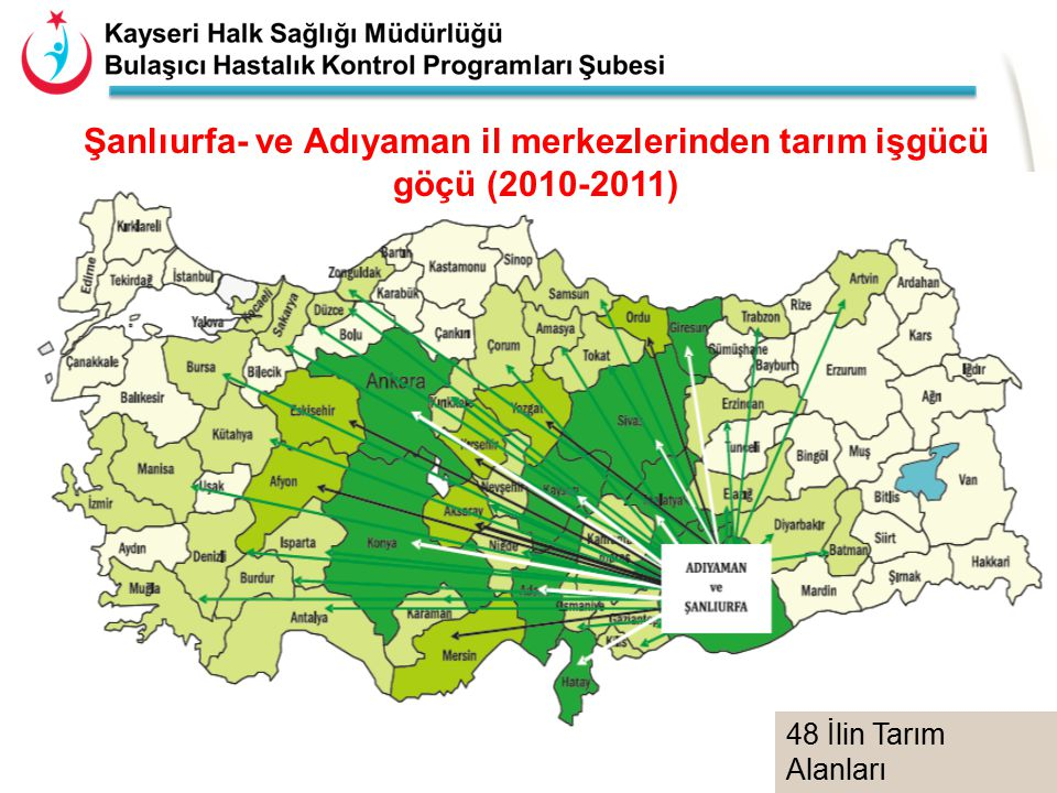 Şanlıurfa- ve Adıyaman il merkezlerinden tarım işgücü göçü (2010-2011)