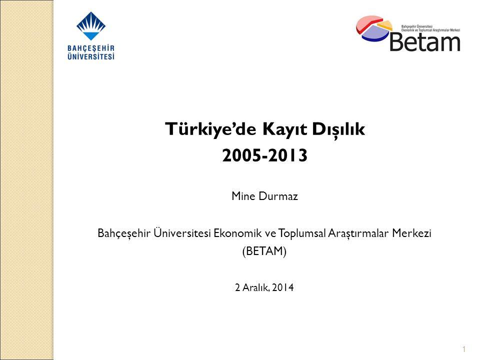 Türkiye'de Kayıt Dışılık