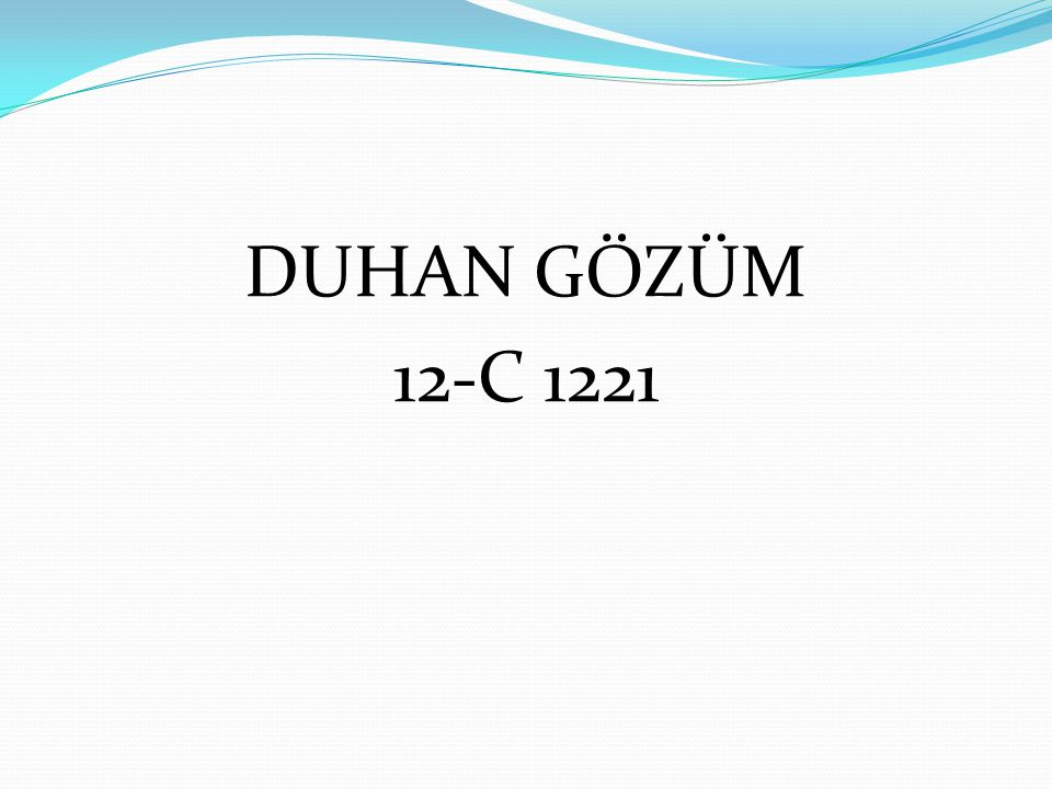 DUHAN GÖZÜM 12-C 1221