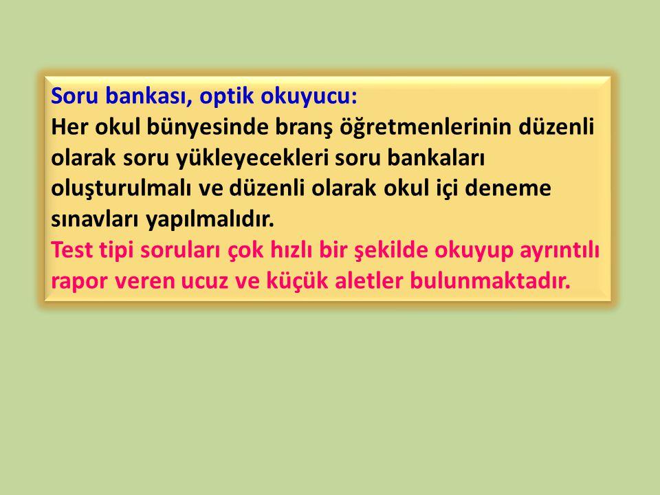 Soru bankası, optik okuyucu: