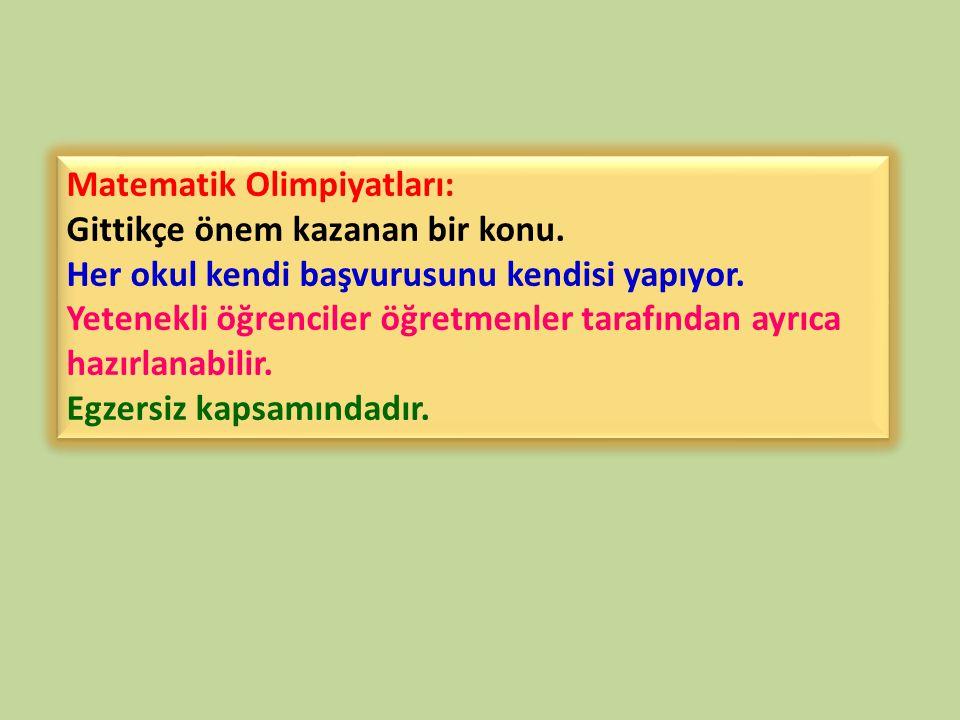 Matematik Olimpiyatları: