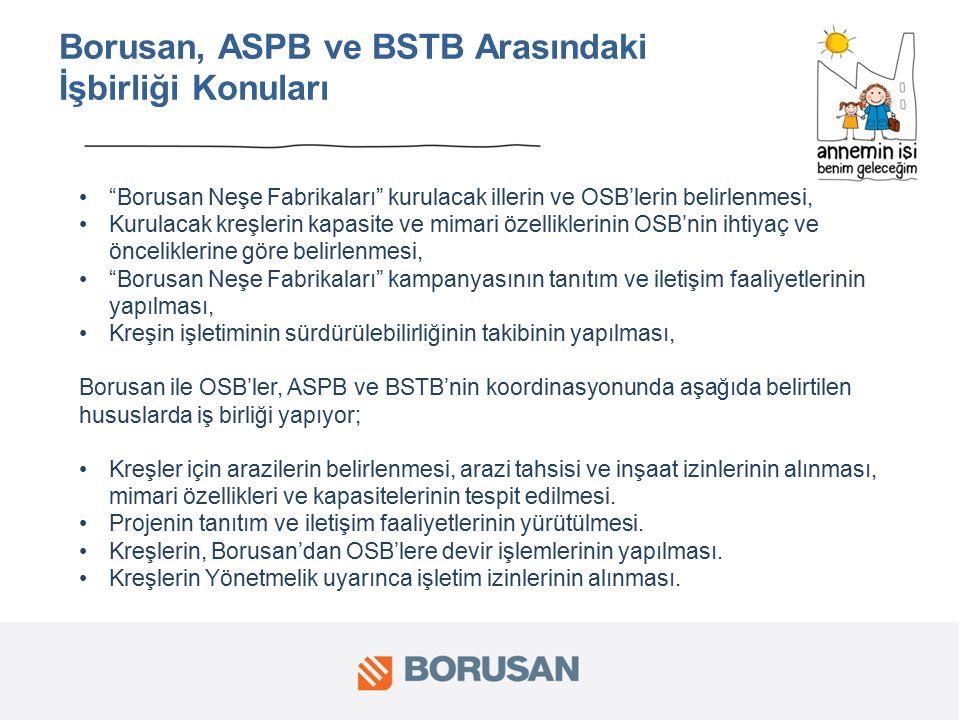 Borusan, ASPB ve BSTB Arasındaki İşbirliği Konuları