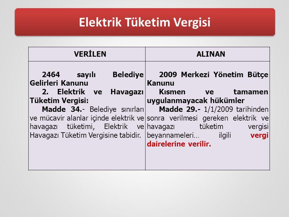 Elektrik Tüketim Vergisi