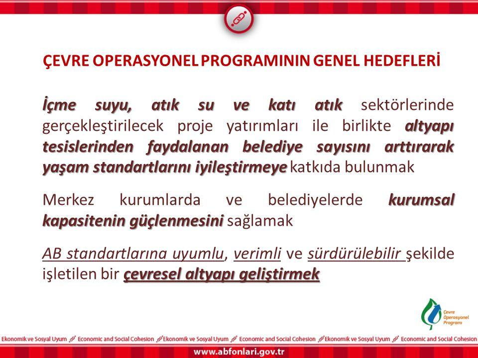 ÇEVRE OPERASYONEL PROGRAMININ GENEL HEDEFLERİ