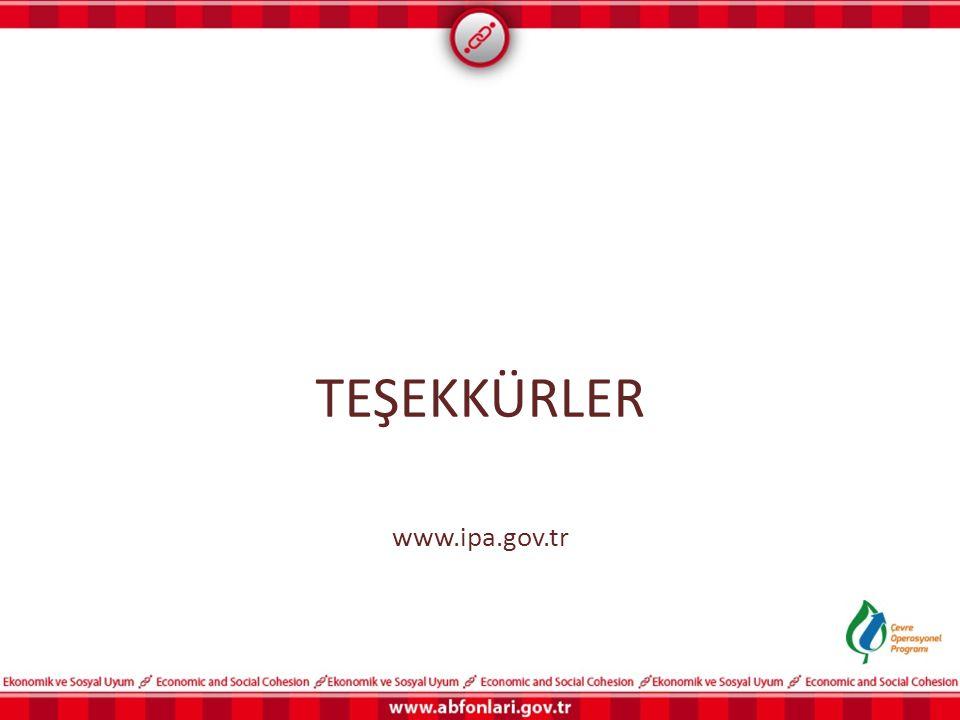 TEŞEKKÜRLER www.ipa.gov.tr