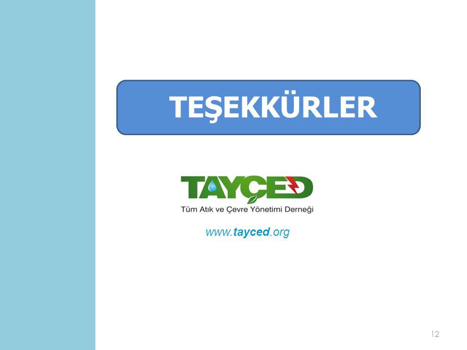 TEŞEKKÜRLER www.tayced.org